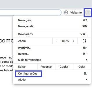 Configuração Chrome